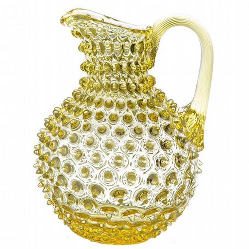 Hobnail Glass Jug - 2L - Sunshine Yellow